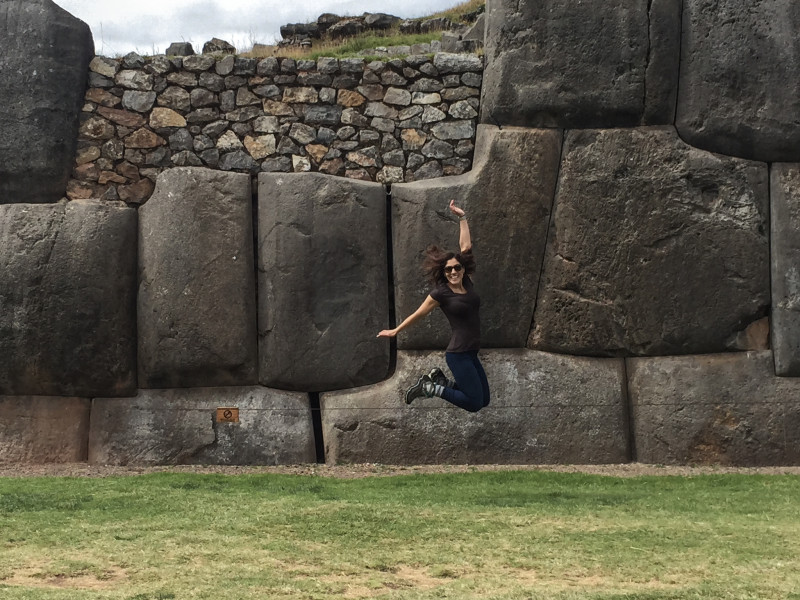 Me, unable to contain my excitement at Saqsaywaman