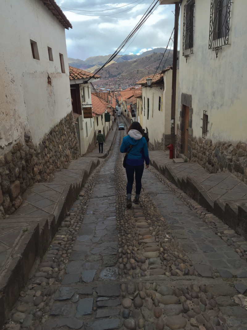 On my way to Saqsaywaman