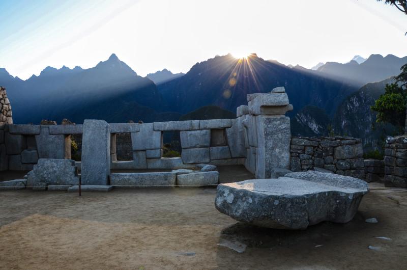 Sunrise in Machu Picchu