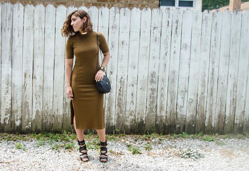 Side-Slit Midi Dress