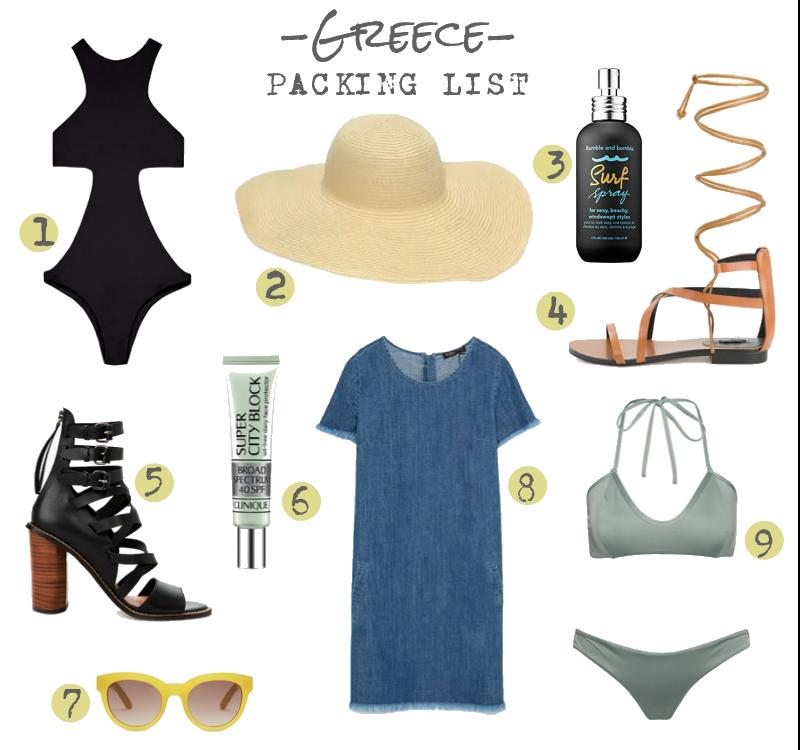 Packing List - Greece