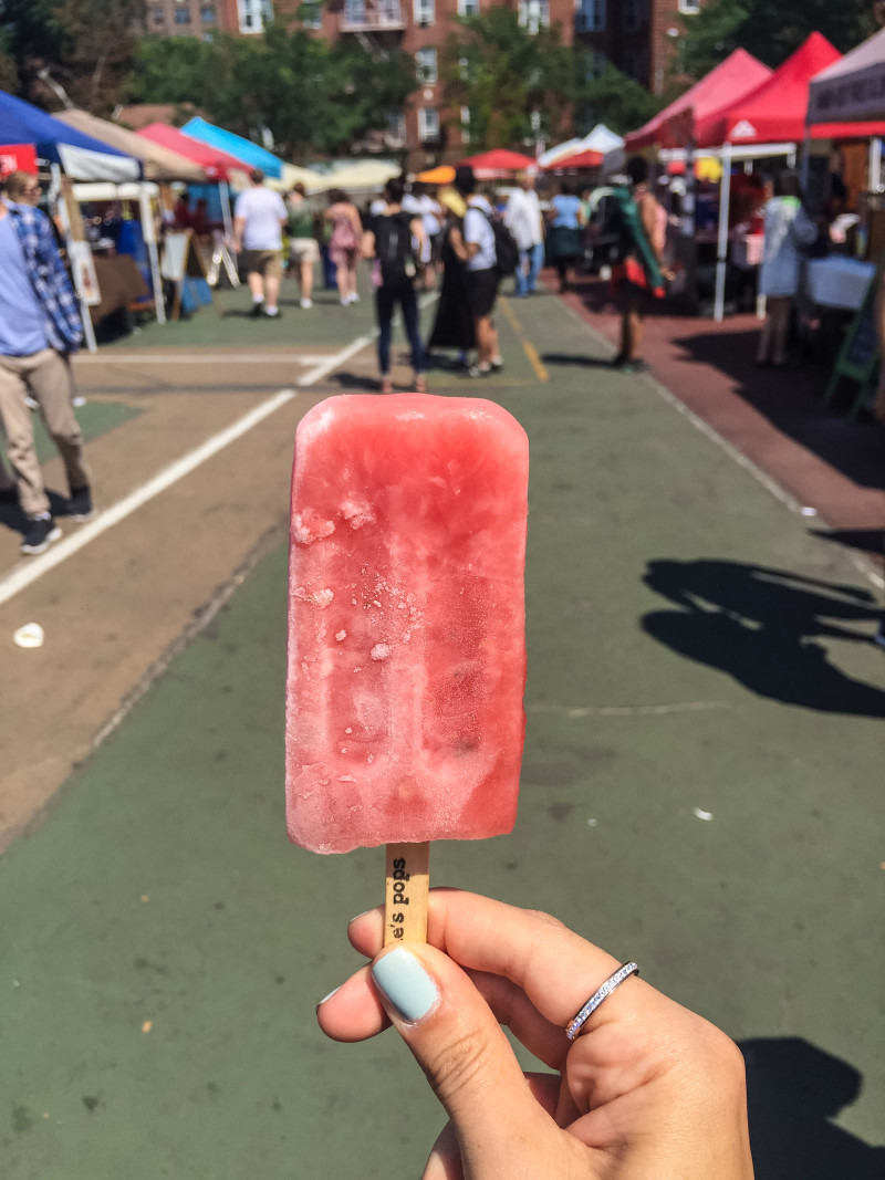 Watermelon & mint popsicle from People's Pops