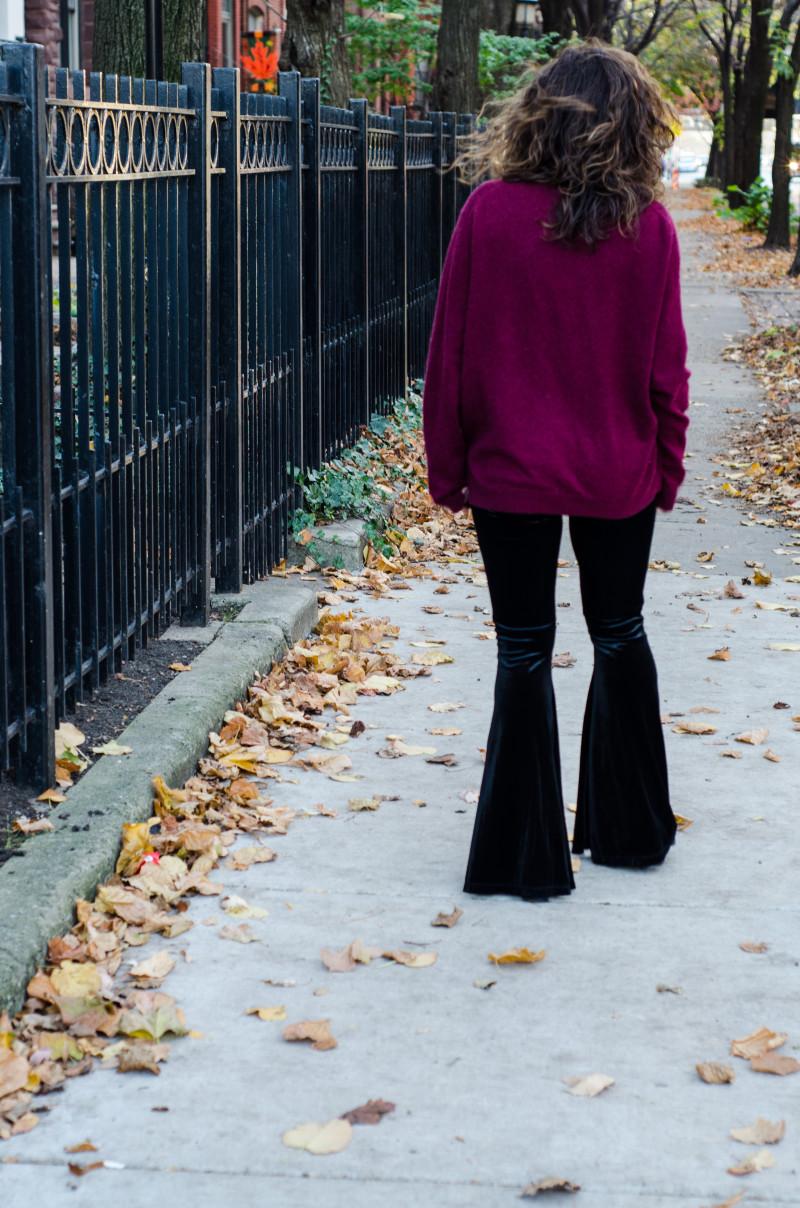 Oversized Burgundy Sweater