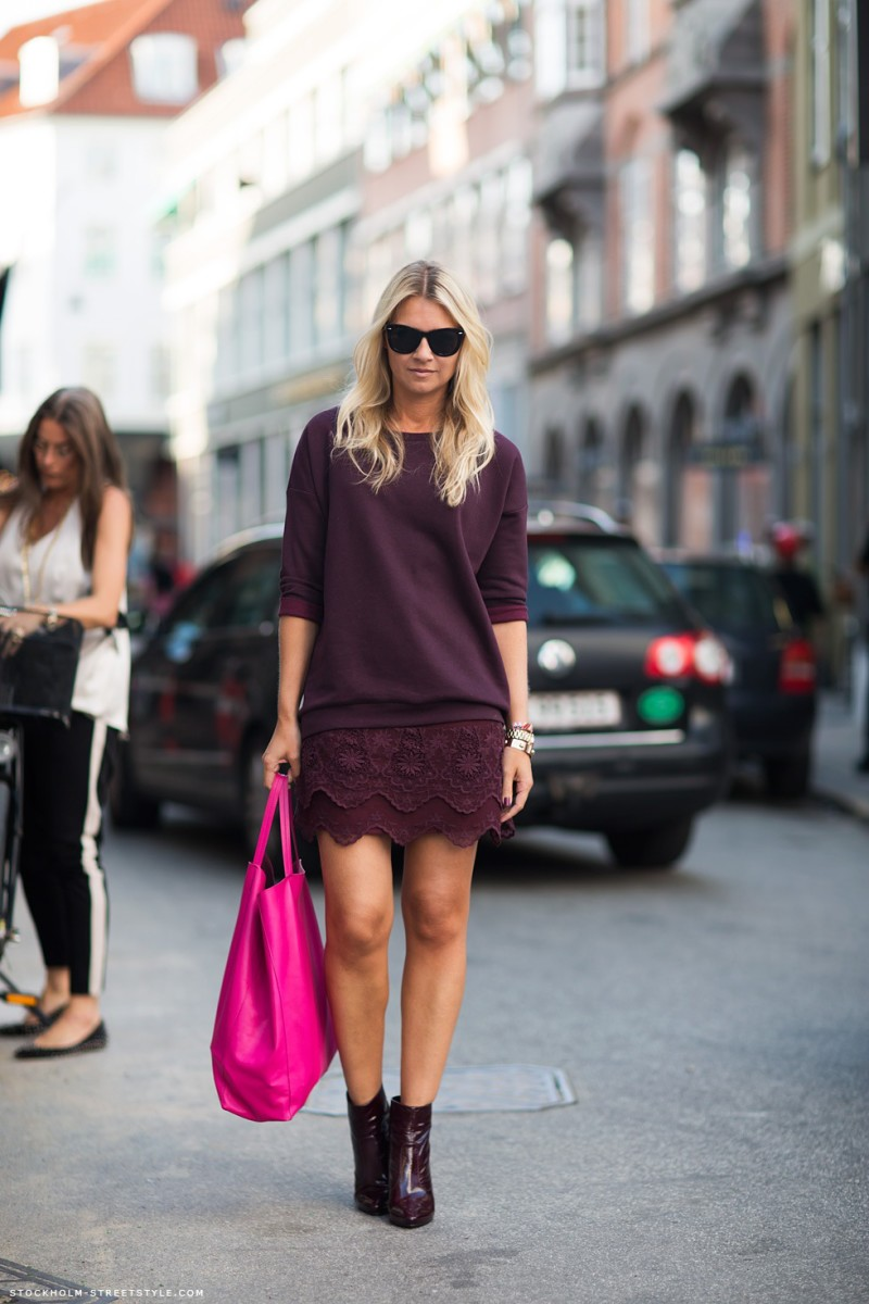burgundy lace mini skirt