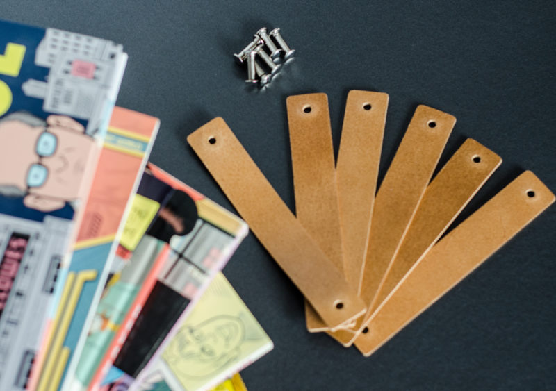 Leather dresser handles