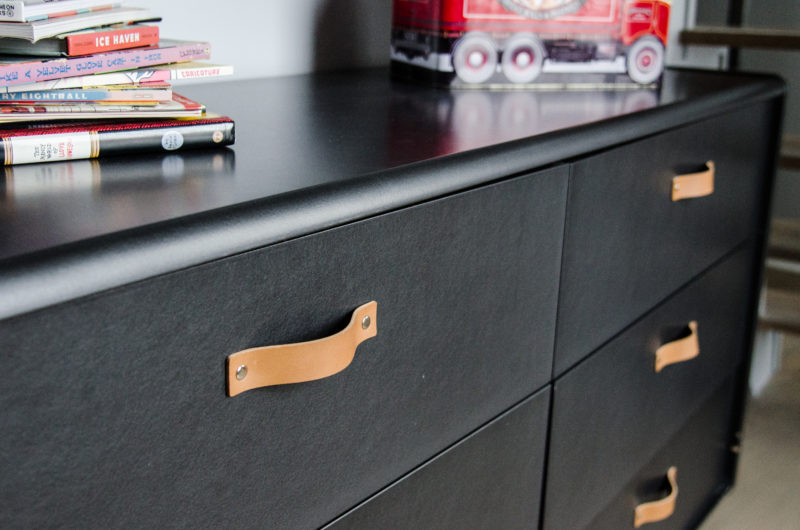 leather dresser handles