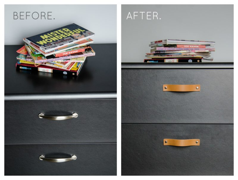 before and after dresser DIY