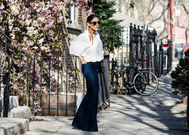 Oversized Silk & Flares for Easter