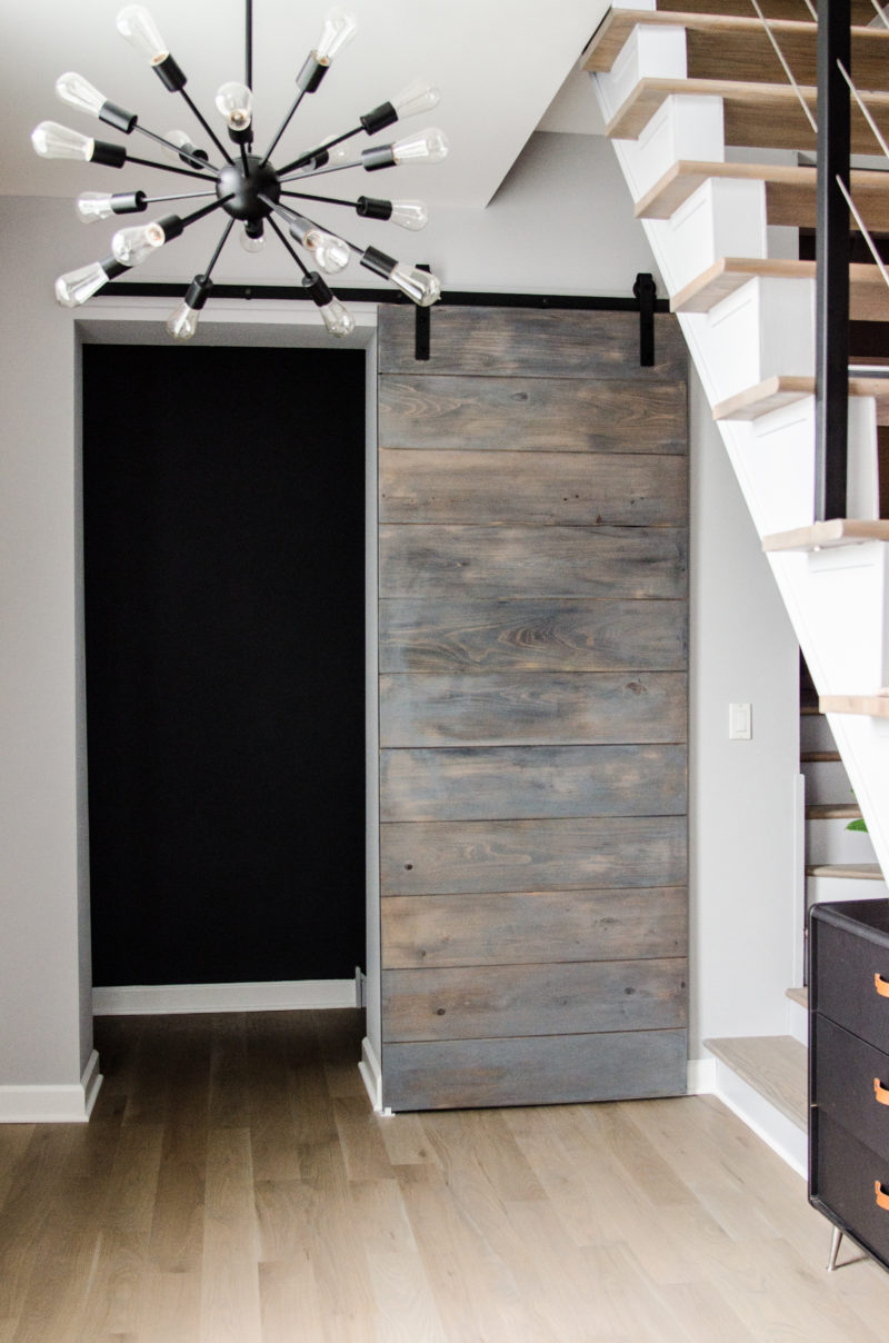 An Affordable Modern Barn Door Cuddlepill