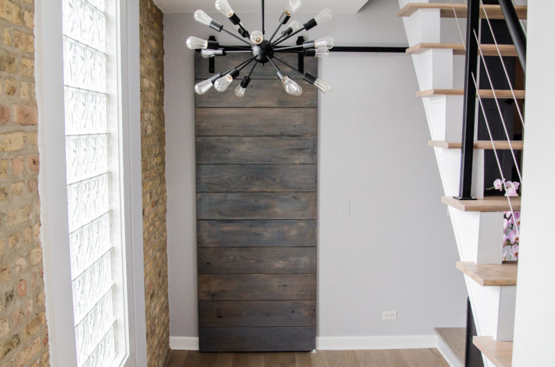 An Affordable Modern Barn Door