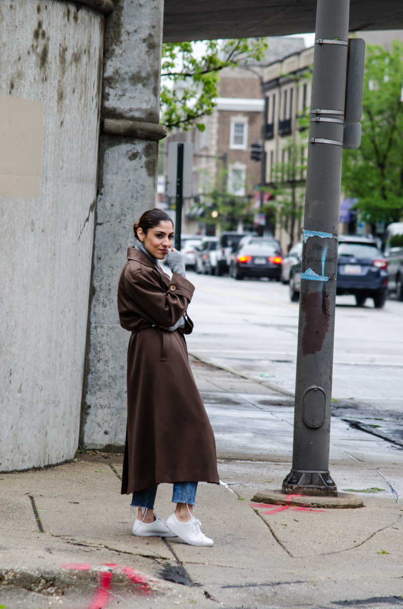 Womens Spring Trenchcoat