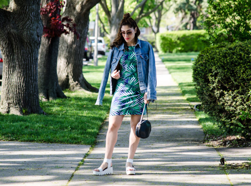 Bold Print tee shirt dress