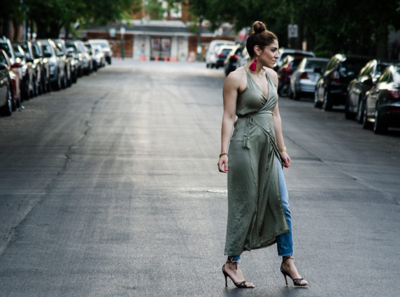How to Wear a Dress Over Pants