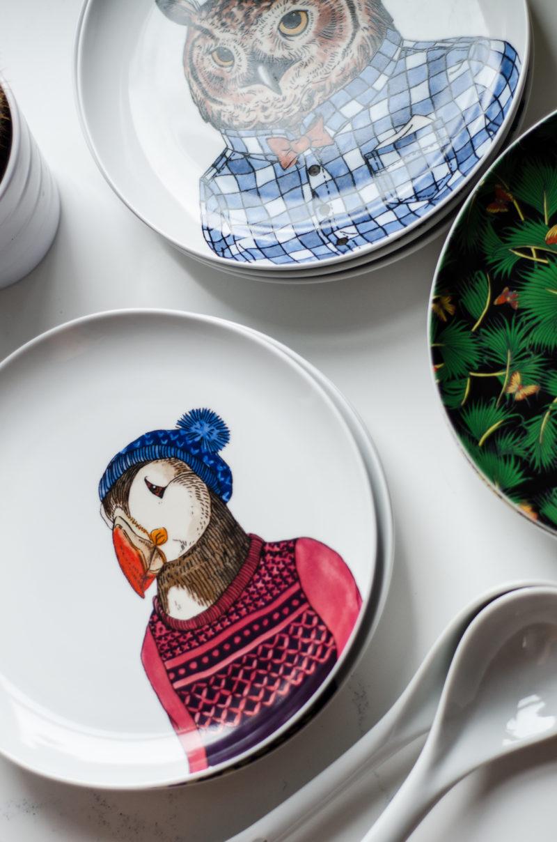 Animal Print Plates