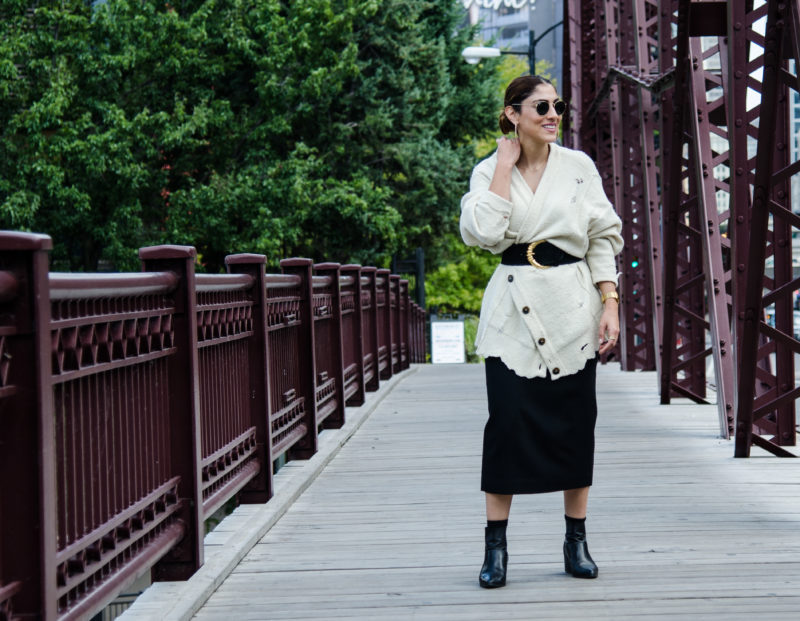 How to Reinvent an Oversized Cardigan