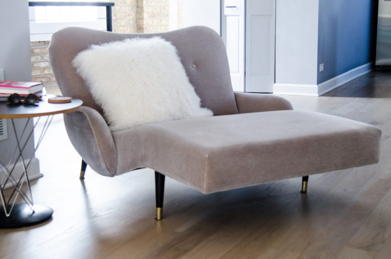 Mid Century Modern Chaise