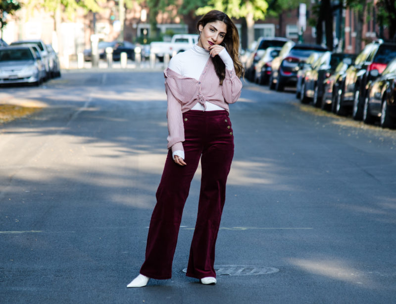 Corduroy Pants Wide Leg