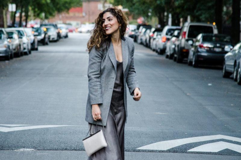Blazer with slip dress