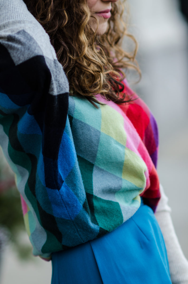 bold argyle sweater