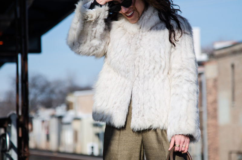 How to Dress Down a Fur Coat