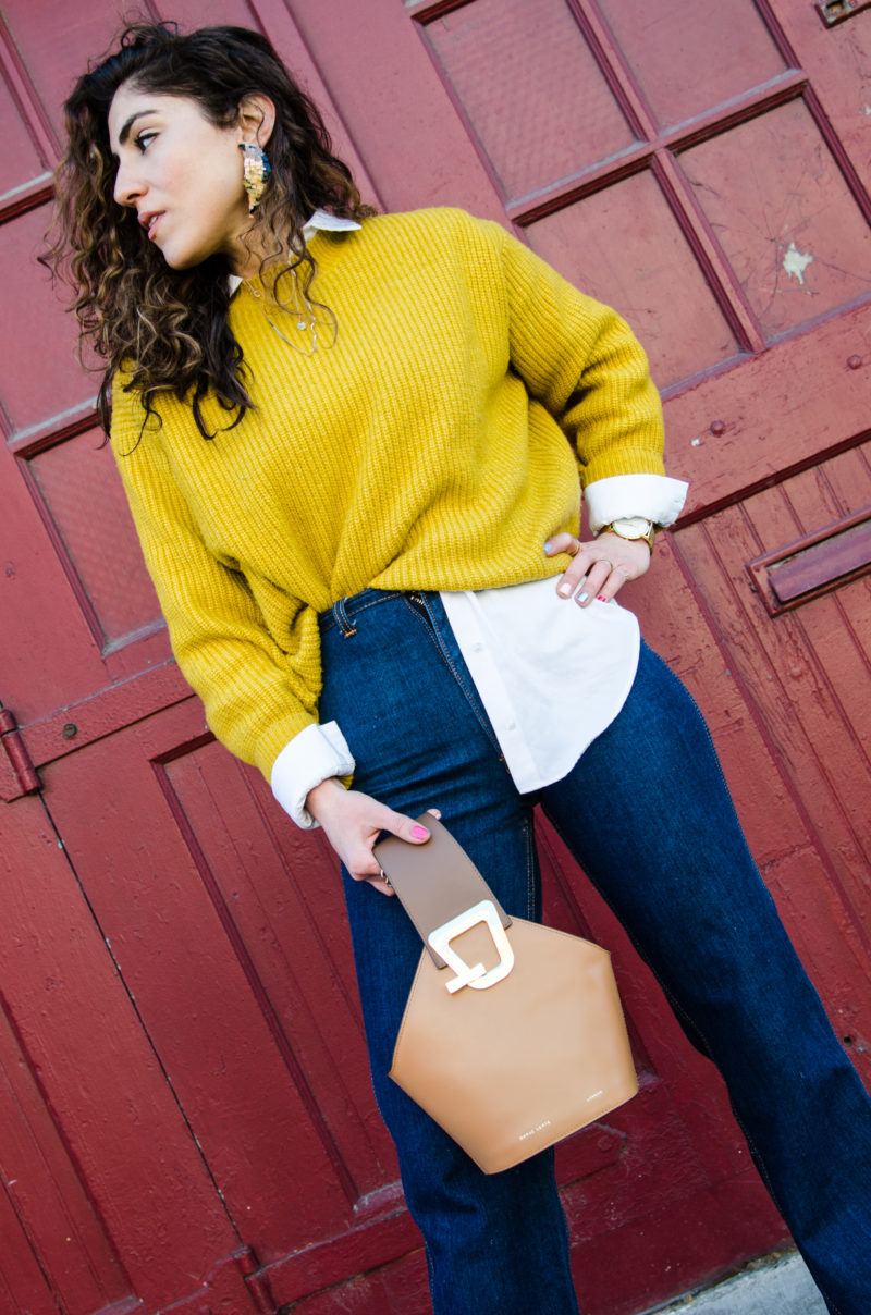 how to style an oversized sweater