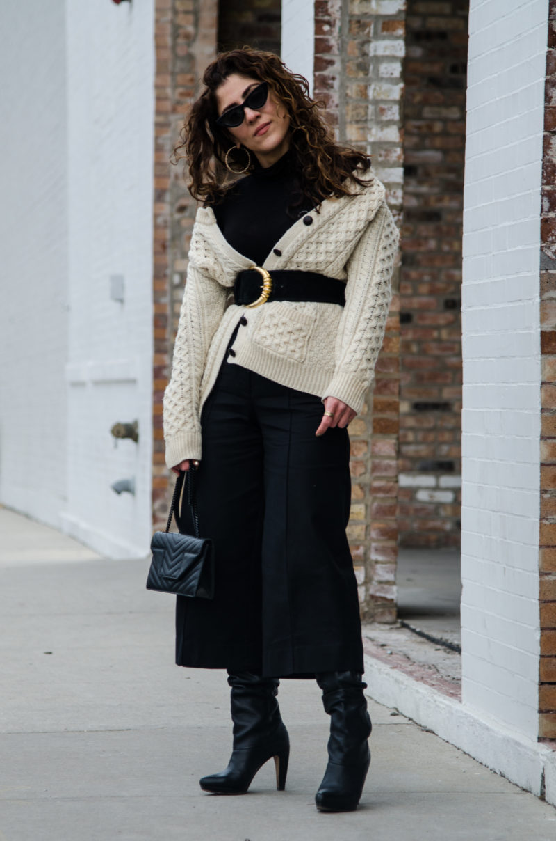 how to wear a cardigan sweater