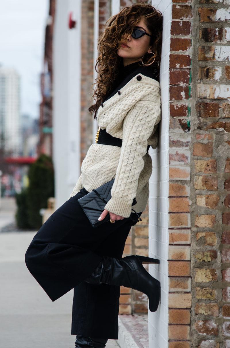 ways to wear a cardigan sweater