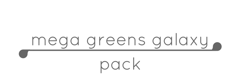 mega greens galaxy pack glossier