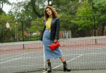 how to style a jean skirt